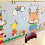 Gli alunni hanno colorato i due murales realizzati a scuola dall'artista torinese Xel