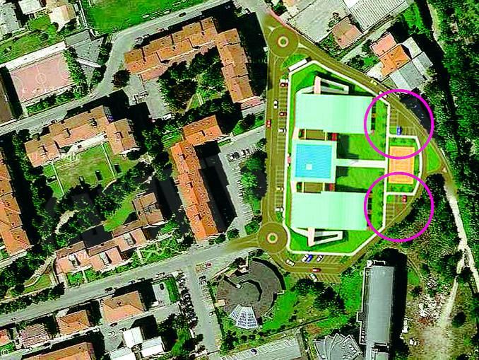 scuola Moretta dall'alto