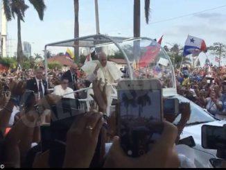 Gmg Panama: primo incontro dei giovani con papa Francesco