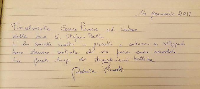 L'ex ministro Roberta Pinotti ha visitato la Fondazione Cesare Pavese