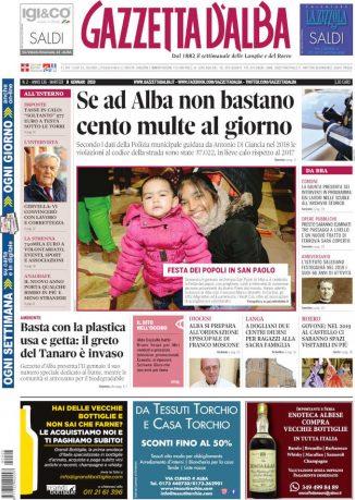 La copertina di Gazzetta d'Alba in edicola martedì 8 gennaio