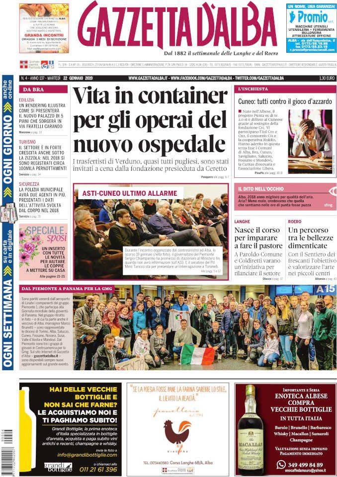 Le notizie principali del numero in edicola il 22 gennaio