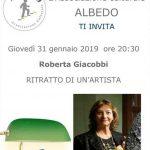 Ritratto dell'artista Roberta Giacobbi con l'associazione Albedo di Bra