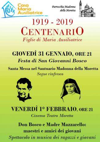 Nel ceentenario dell'asilo della Moretta si ricorda don Bosco