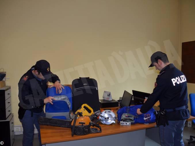 oggetti recuperati furto cuneo