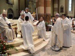 Padre Moscone saluta i fedeli ricordando le sue tre origini e citando il giudice Livatino