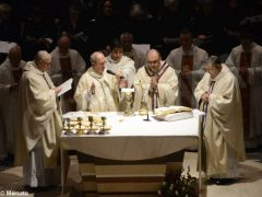 Padre Moscone saluta i fedeli ricordando le sue tre origini e citando il giudice Livatino 2