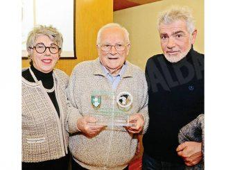 Romolo Bussolino è stato premiato dai veterani come sportivo dell'anno
