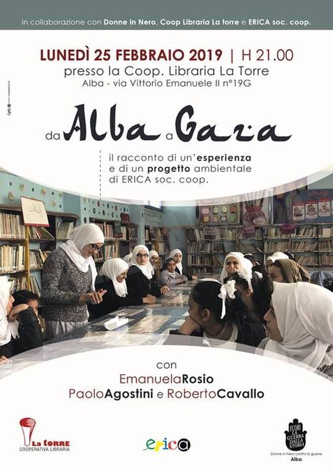Il progetto ambientale della cooperativa Erica a Gaza raccontato alla libreria La torre di Alba