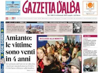 La copertina di Gazzetta d'Alba in edicola martedì 5 febbraio