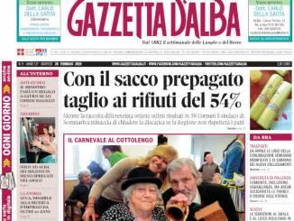 La copertina di Gazzetta d'Alba in edicola martedì 26 febbraio