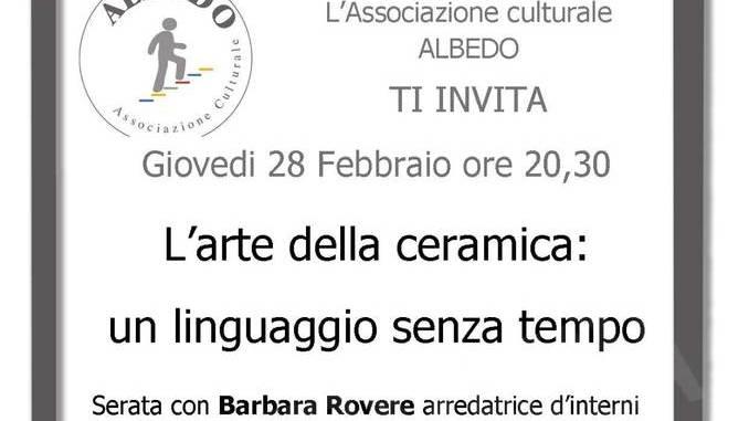 Albedo a Bra parla di arte della ceramica con Barbara Rovere
