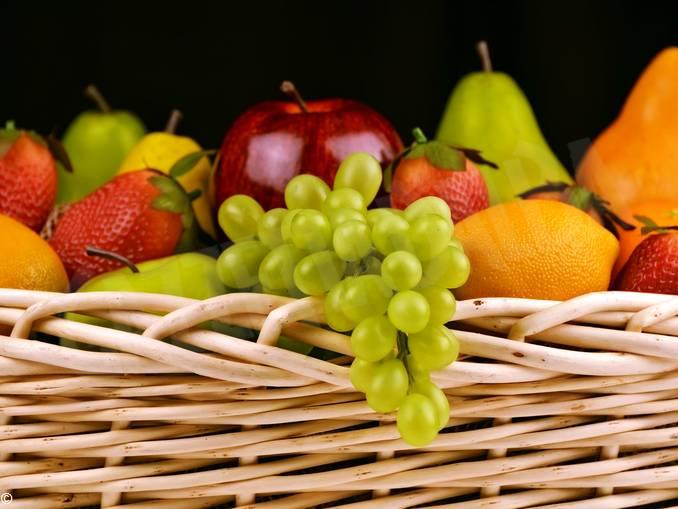 cibo frutta cesto