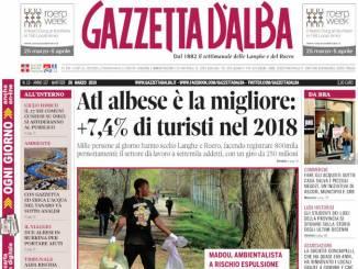 La copertina di Gazzetta d'Alba in edicola martedì 26 marzo