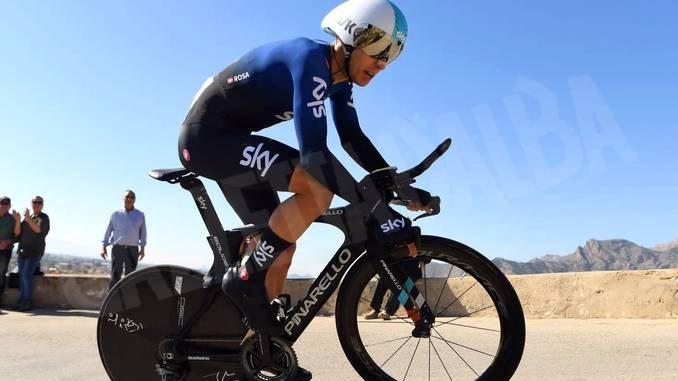 Coppi e Bartali: il Team Sky di Diego Rosa secondo nella cronosquadre