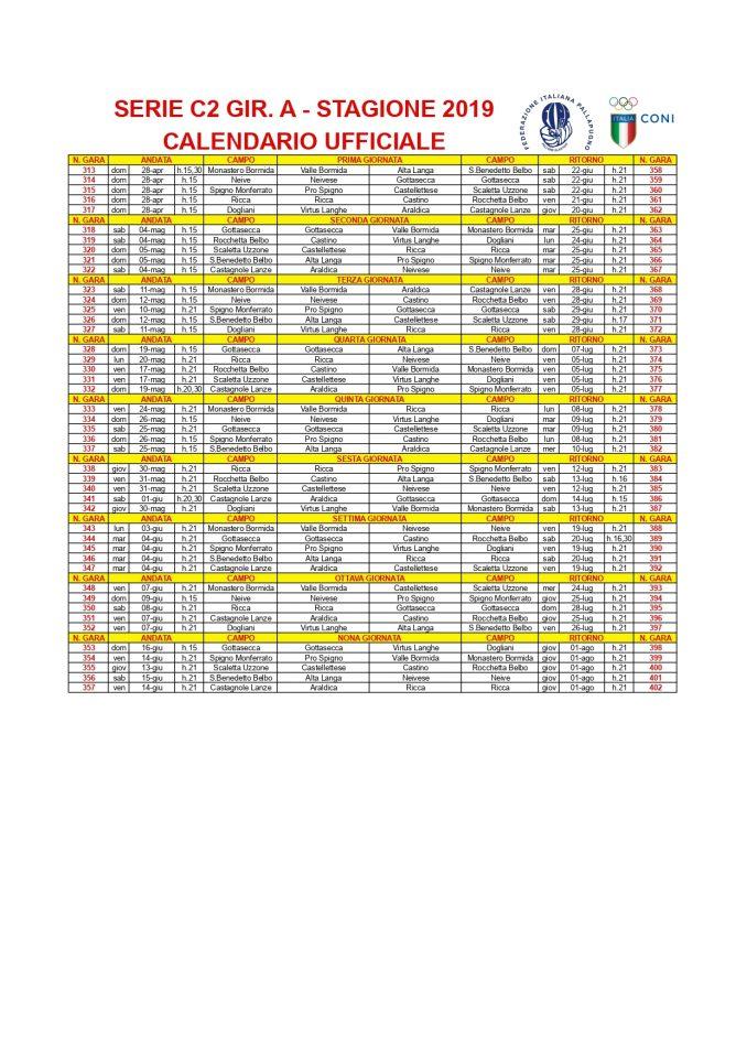 Pallapugno: il calendario ufficiale della Serie C2 1