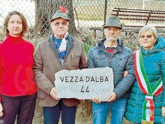 Vezza ha consegnato a Biella una pietra in ricordo della Grande guerra
