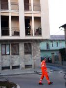 Paura per un incendio in un palazzo di piazza San Paolo ad Alba