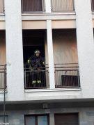 Paura per un incendio in un palazzo di piazza San Paolo ad Alba 1