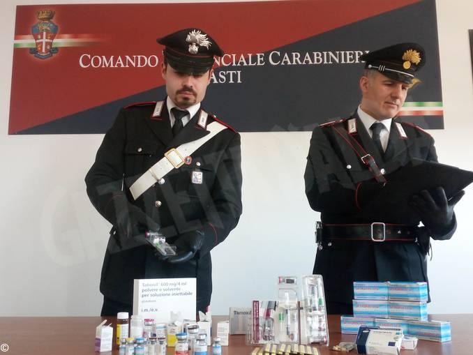 carabinieri asti sequestro doping