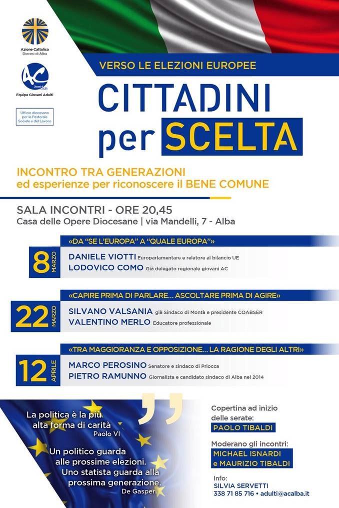 Cittadini per scelta: tre serate, ad Alba, organizzate dall'Azione Cattolica