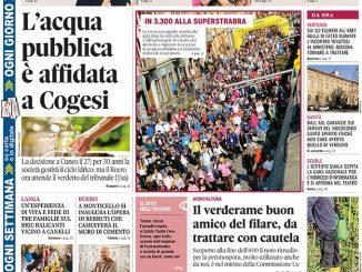 La copertina di Gazzetta d'Alba in edicola martedì 2 aprile