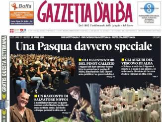 La copertina di Gazzetta d'Alba in edicola sabato 20 aprile