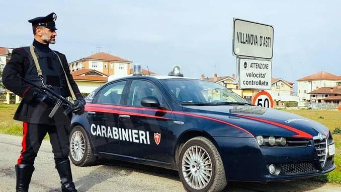 San Damiano d'Asti: i Carabinieri salvano una donna dalla furia del marito