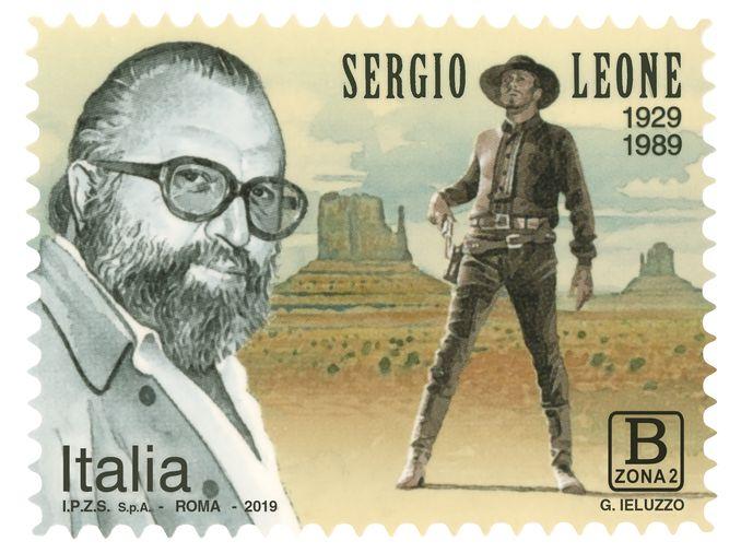 francobollo sergio leone