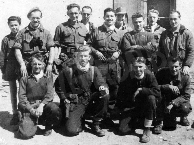 partigiani automomi e commndos inglesi- castino -aprile 1955