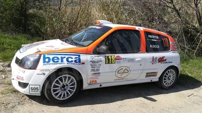 Il pilota Sergio Patetta al via del trofeo Renault