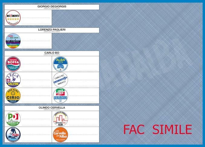 Elezioni comunali 2019: tutte le liste di Alba 15