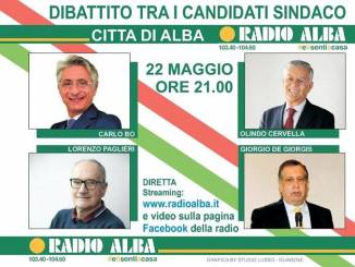 Alle 21 su Radio Alba l'ultimo dibattito tra i quattro candidati sindaco albesi
