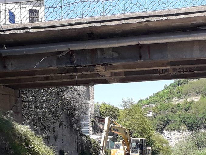 A Cortemilia sono partiti i lavori per consolidare il ponte sul Bormida