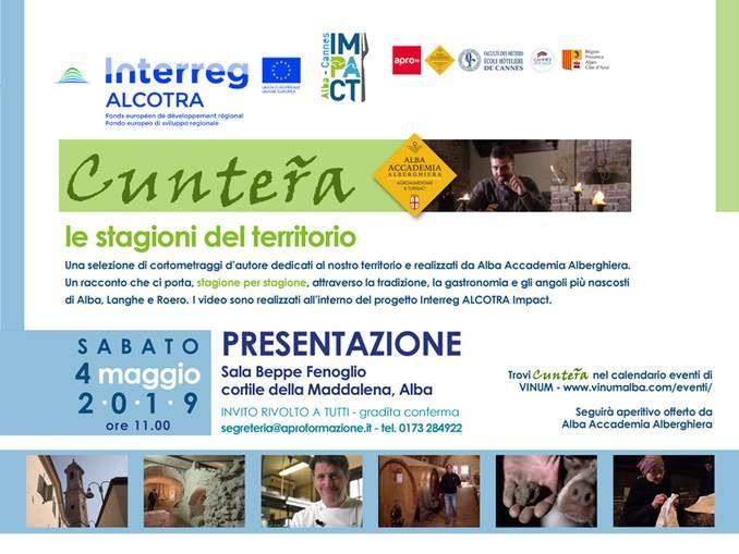 Alba accademia alberghiera presenta il documentario Cunteřa-Le stagioni del territorio