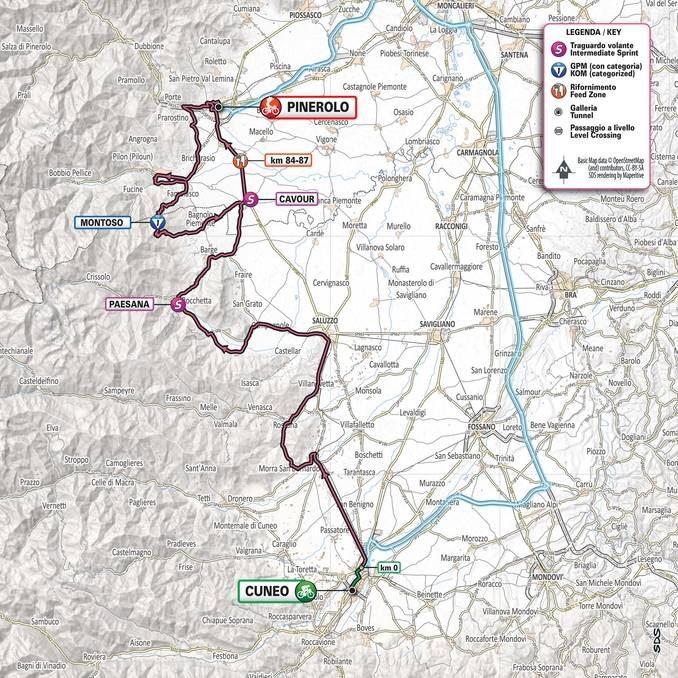 Giro d'Italia da Cuneo a Pinerolo: le strade interessate verranno chiuse due ore prima del passaggio di giovedì 23 maggio 1
