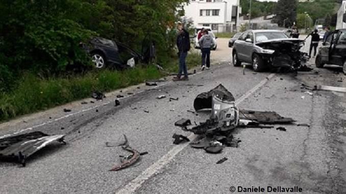 Incidente a Monticello in località Sant'Antonio, coinvolti tre veicoli