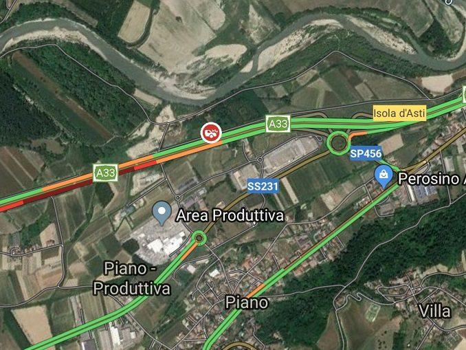 Incidente sull'Asti-Cuneo, coinvolti più veicoli