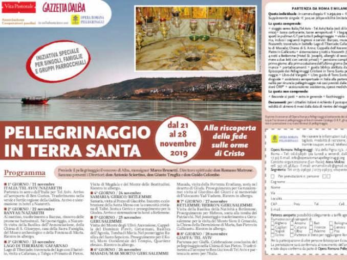 Pellegrinaggio con Gazzetta d'Alba in Terra Santa
