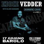 Collisioni 2019 a Barolo: Eddie Vedder apre il festival lunedì 17 giugno