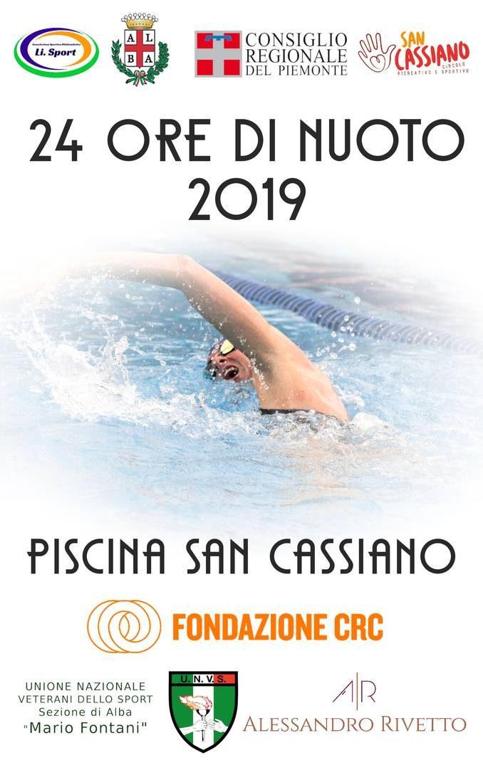 Sabato 29 a San Cassiano torna la 24 ore di nuoto