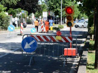 Da lunedì un ampio cantiere interesserà l'intersezione tra corso Enotria e corso Langhe ad Alba 1