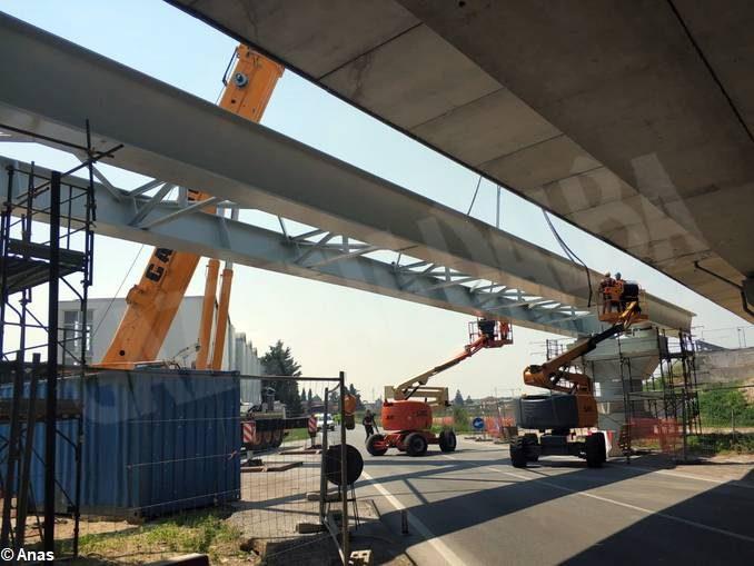 Posato nella sua sede il nuovo viadotto della tangenziale di Fossano