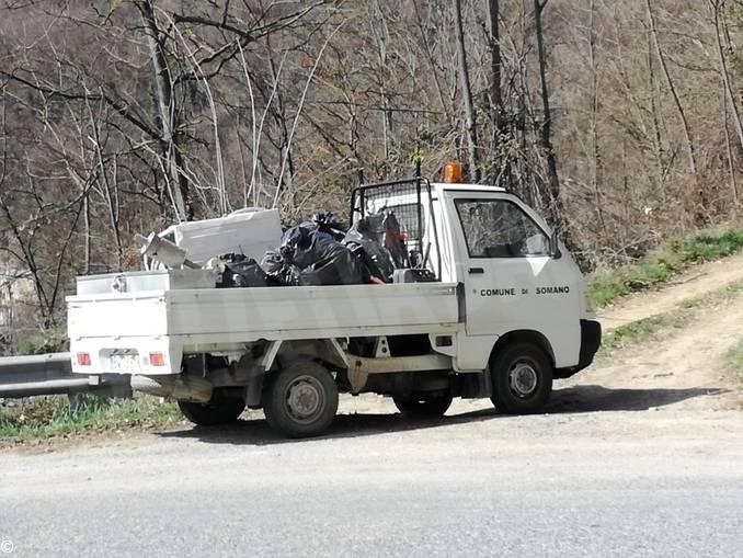 rifiuti pulizia protezione civile somano