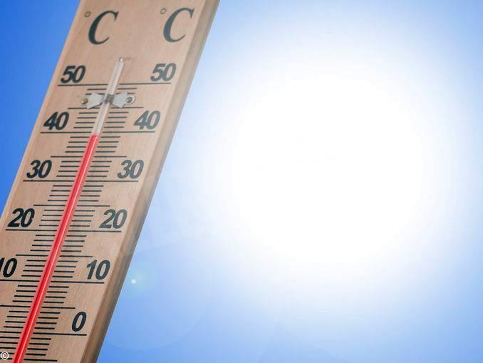 sole caldo termometro