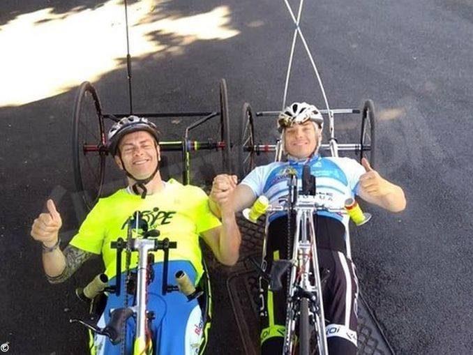 Handbikers di Sportabili a Chivasso per il Girdo d'Italia