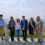 Delegazione del consolato cinese a Milano in visita alle colline Unesco