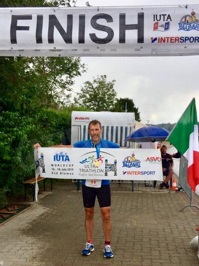 Volontario di Ail Cuneo ex malato di mieloma completa una tripla Ironman