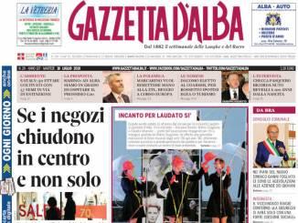 La copertina di Gazzetta d'Alba in edicola martedì 16 luglio