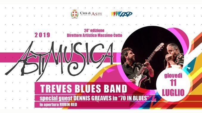 Astimusica, questa sera c'è la Treves blues band